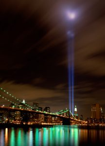 Tribute in Lights from NYC site of WTC